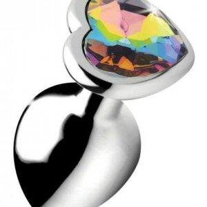 Rainbow Heart Buttplug - Middel-2