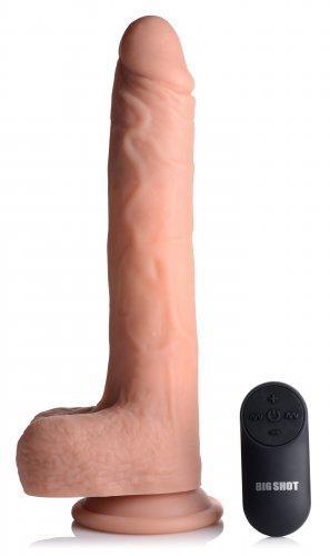 Vibrerende & Stotende Realistische XL Dildo met Zuignap en Ballen -16.5 cm-2