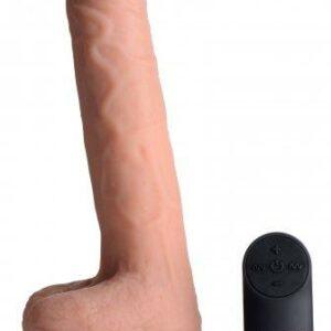 Vibrerende & Stotende Realistische XL Dildo Met Balzak - 17.8 cm-2