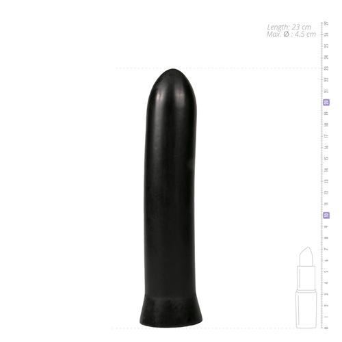 All Black Dildo 22.5 cm - Zwart-5